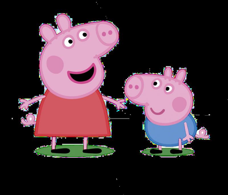 peppa-pig-y-su-hermano-fondos-de-pantalla-hd