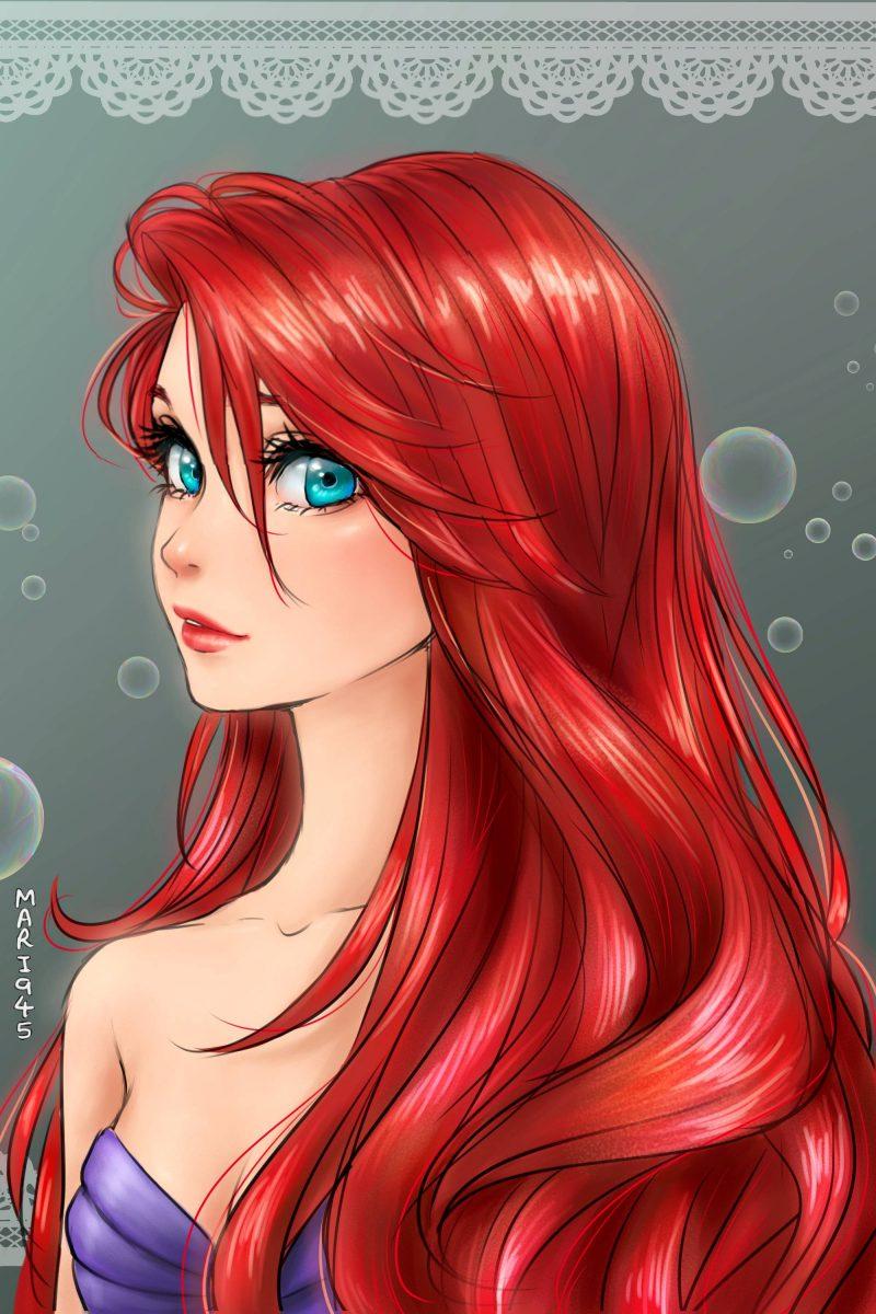 princesa-ariel-la-sirenita-disney-fondo-anime