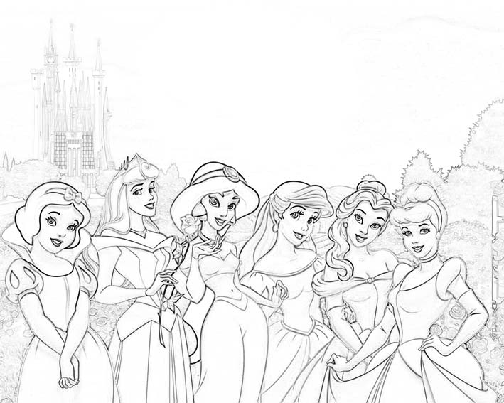 princesas-disney-colorear-dibujos-e-imprimir