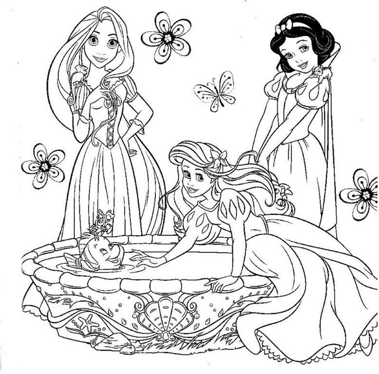 princesas-disney-dibujos-para-colorear-gratis
