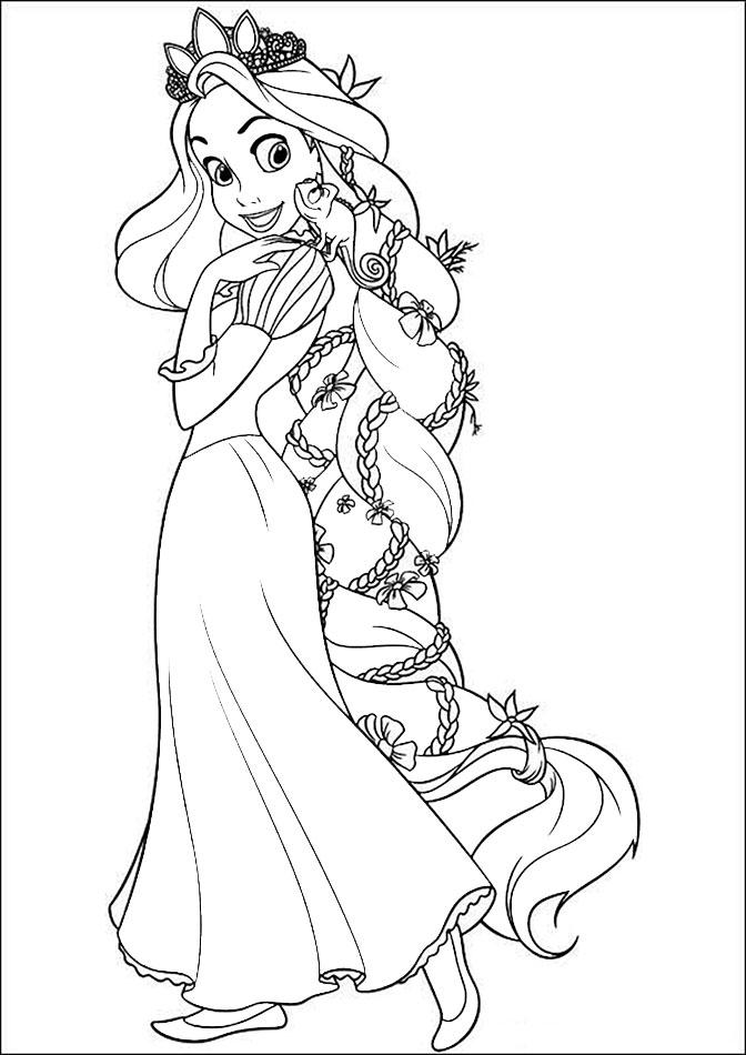 rapunzel-princesa-disney-dibujos-para-colorear