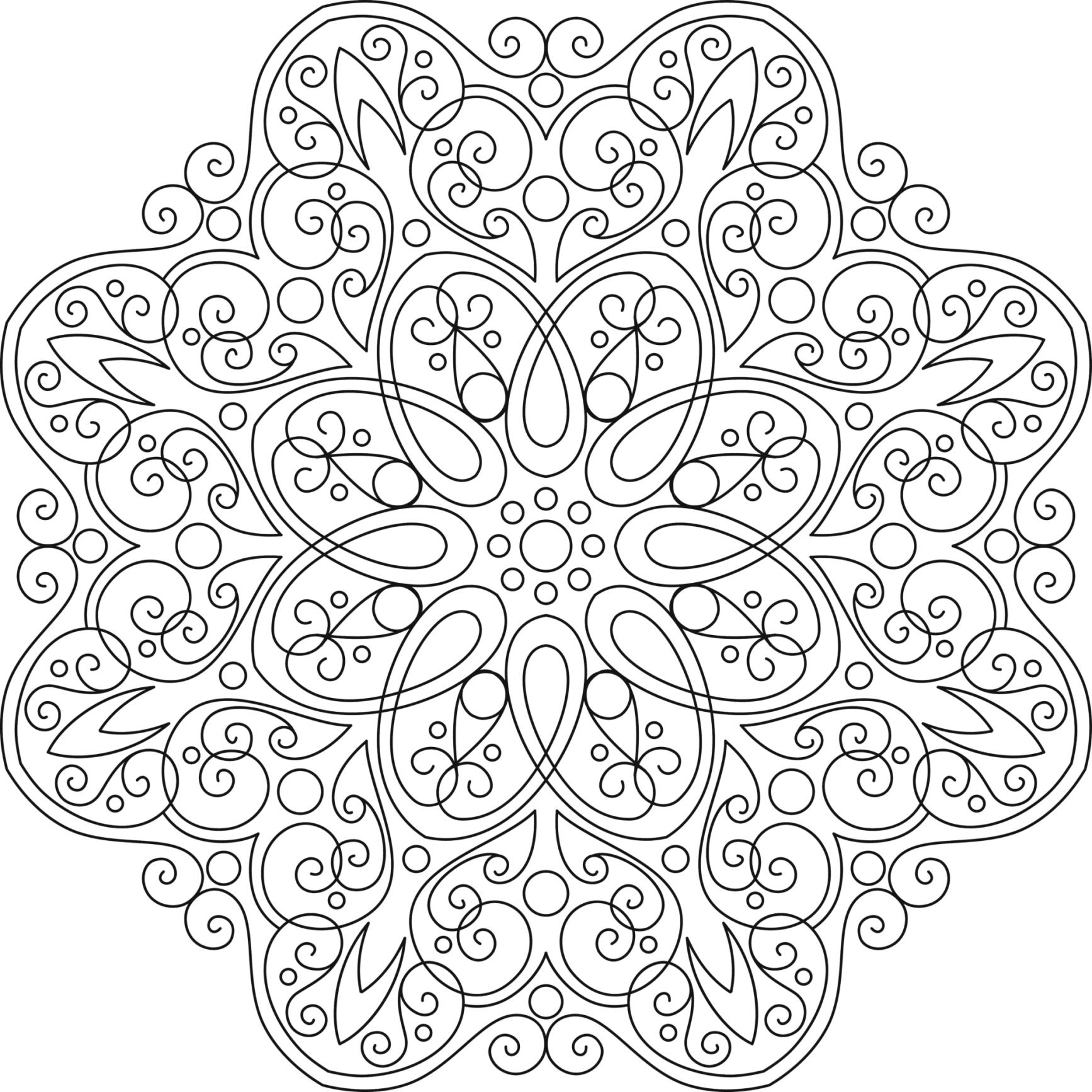 Mándalas para colorear, dibujos mandalas para imprimir