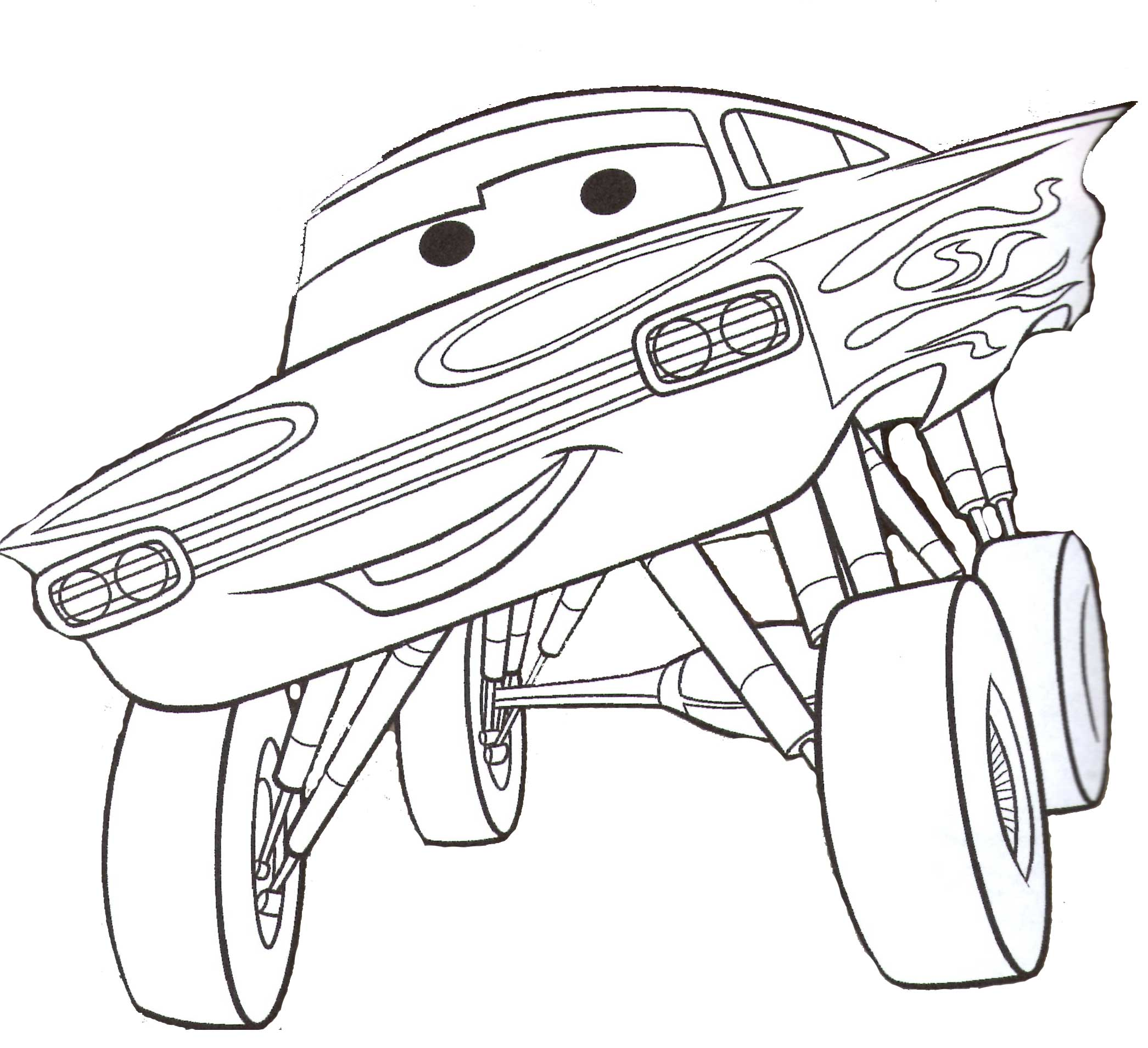 Dibujos de cars para colorear e imprimir gratis for Figuras para calcar