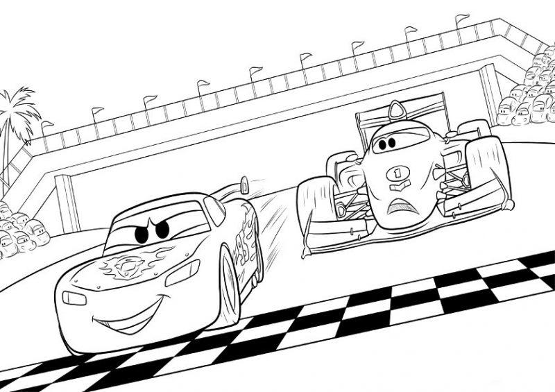 Cómo Dibujar Y Colorear A Rayo De Los Cars 3 Disney: Dibujos De Cars Para Colorear E Imprimir Gratis