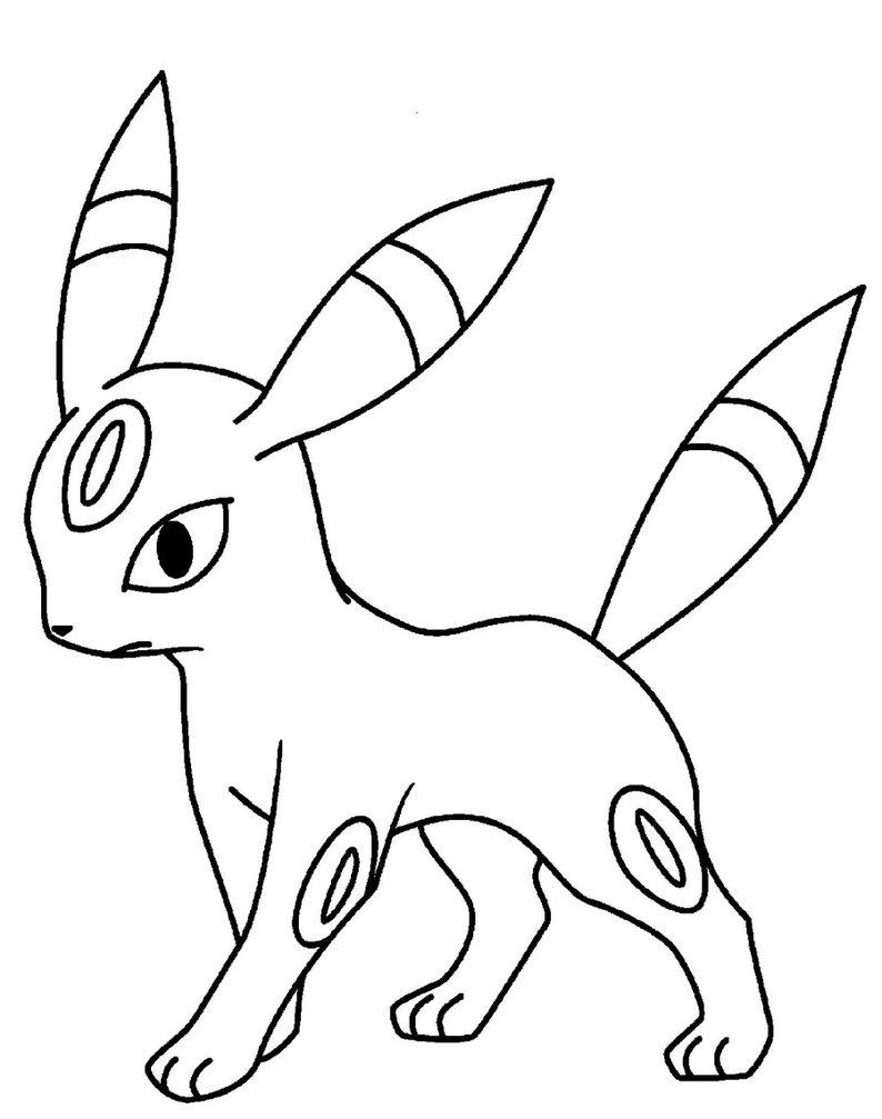 Contemporáneo Dibujo De Flareon Pokemon Para Colorear Ilustración ...