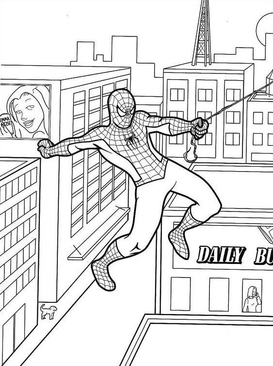 Dibujos de Spiderman para colorear 13