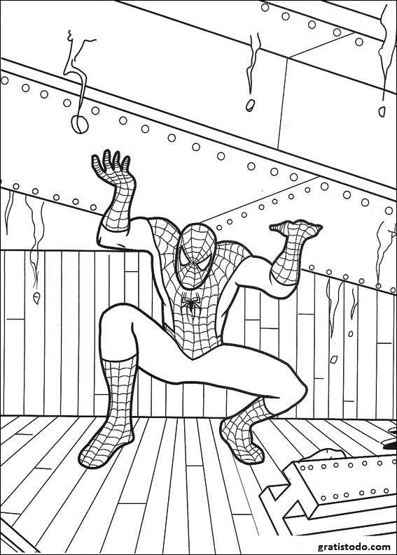 Dibujos de Spiderman para colorear 2