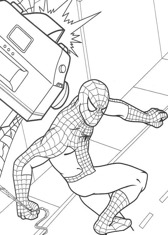 Dibujos de Spiderman para colorear 4