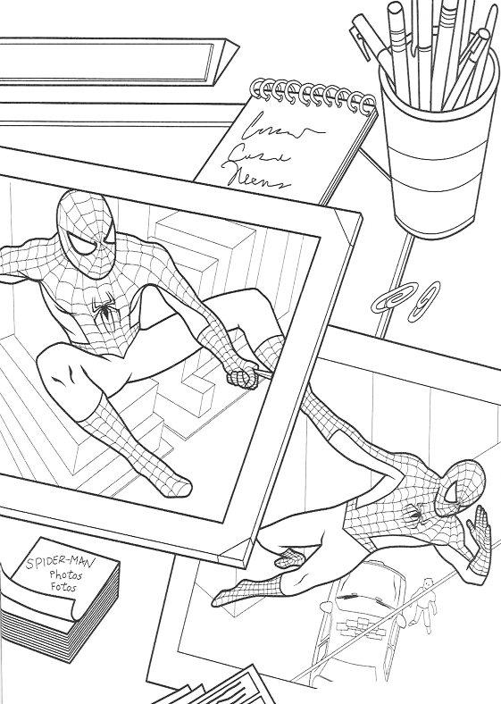 Dibujos de Spiderman para colorear 5