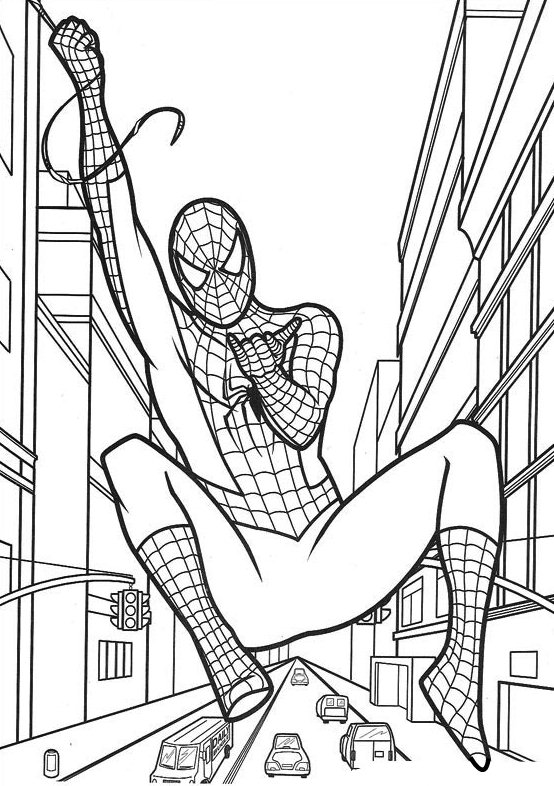 Dibujos de Spiderman para colorear 6