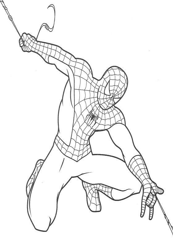 Dibujos de Spiderman para colorear 7