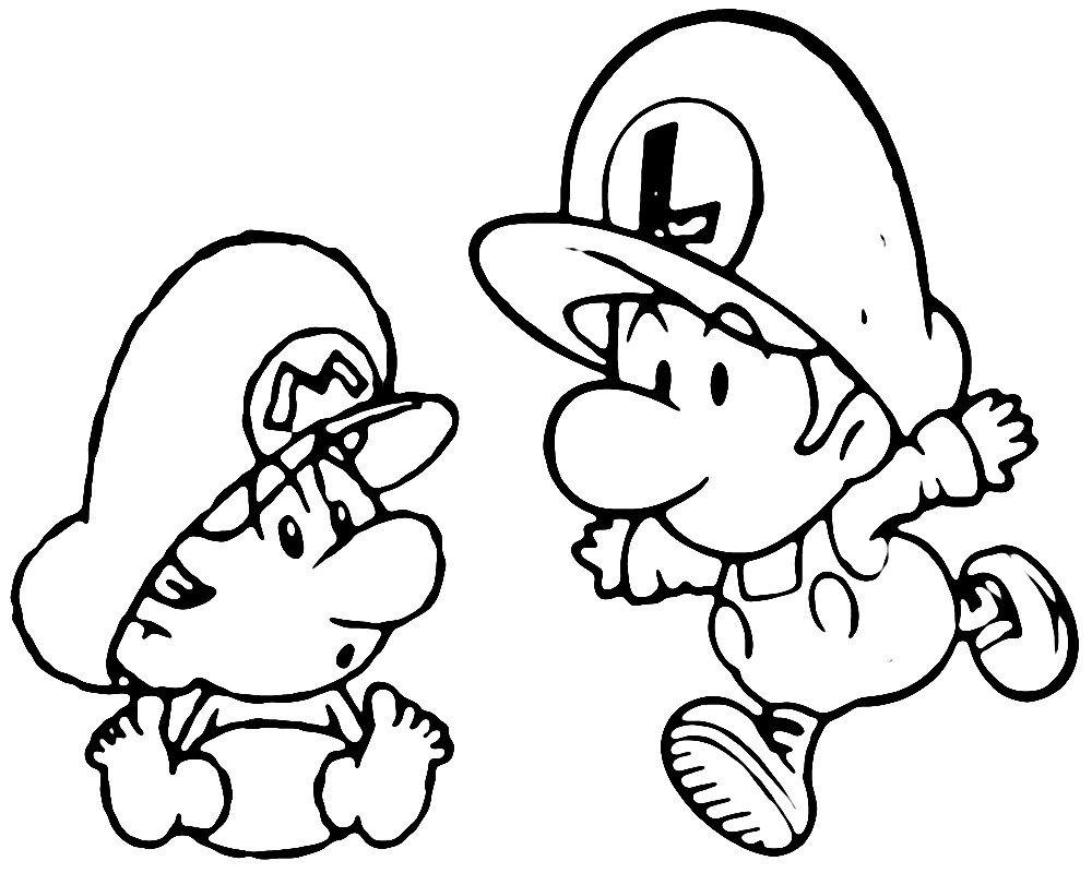 Excelente Mario Para Colorear Para Niños Bosquejo - Dibujos Para ...