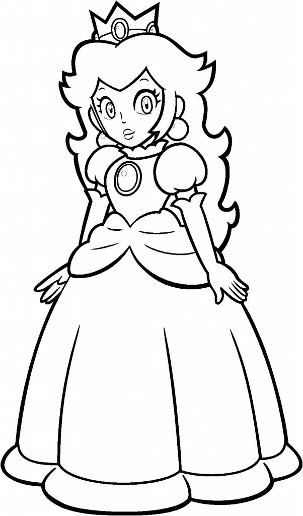 Dibujos de super mario para colorear e imprimir for Mario kart coloring pages peach