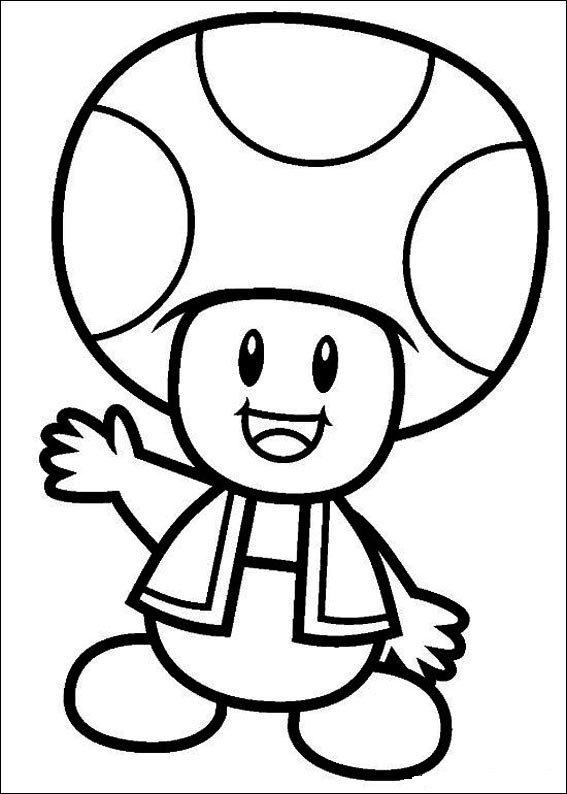 Dibujos de Super Mario para colorear