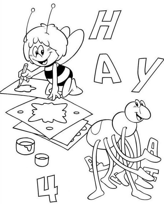 abecedario-con-la-abeja-maya