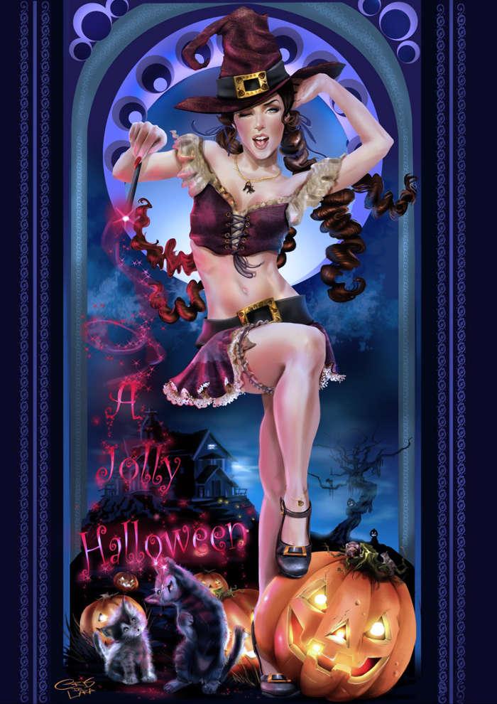 bruja-halloween-fondo-movil