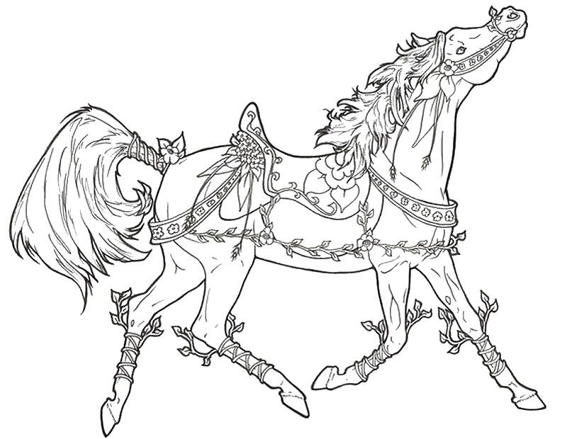holiday horse coloring pages - photo#34