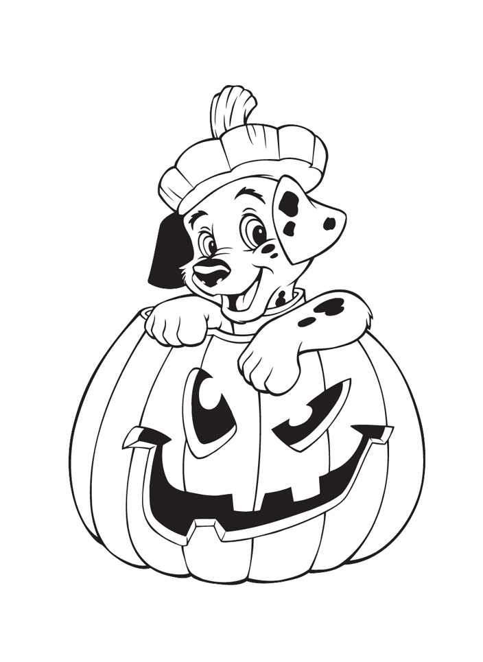 dibujos halloween disney para colorear