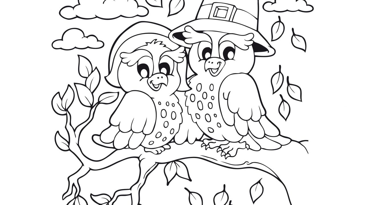 Imagenes Animadas Para Colorear: Dibujos De Otoño Para Colorear E Imprimir Gratis