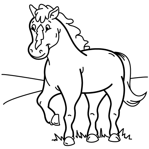 dibujos-caballos-faciles-para-colorear