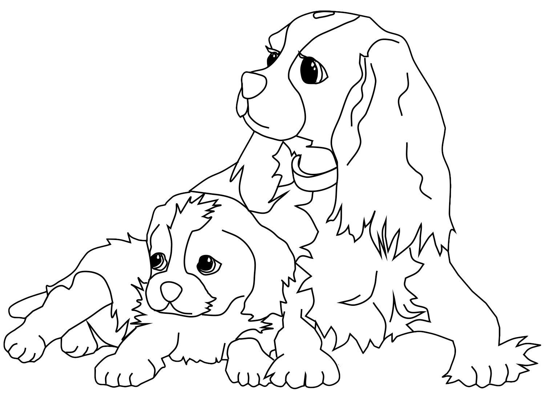 Dibujos Infantiles Para Colorear Gratis: Dibujos De Perros Para Colorear E Imprimir Gratis