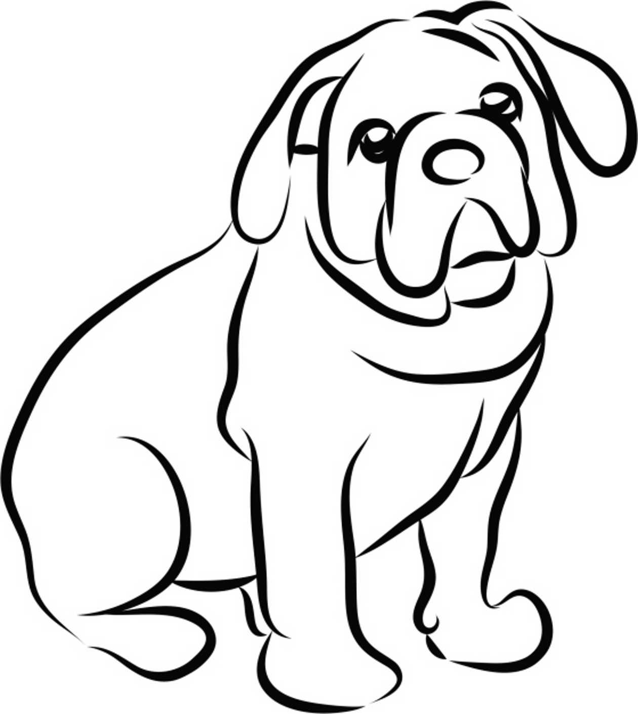 Dibujos de perros para colorear e imprimir gratis for Imagenes de cuadros abstractos para colorear
