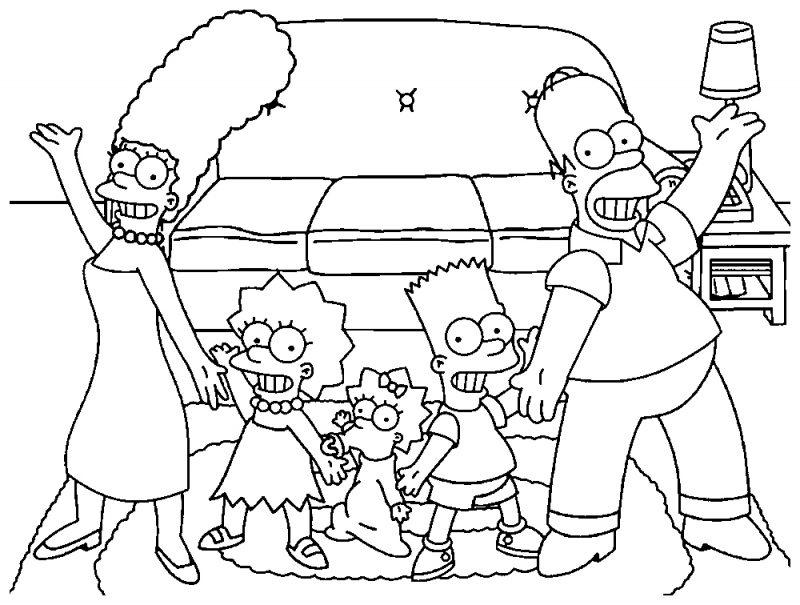 dibujos-familia-simpson-colorear