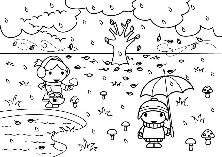 Paginas Para Colorear De Otono Dibujos Para Pintar Arbol: Dibujos De Otoño Para Colorear E Imprimir Gratis