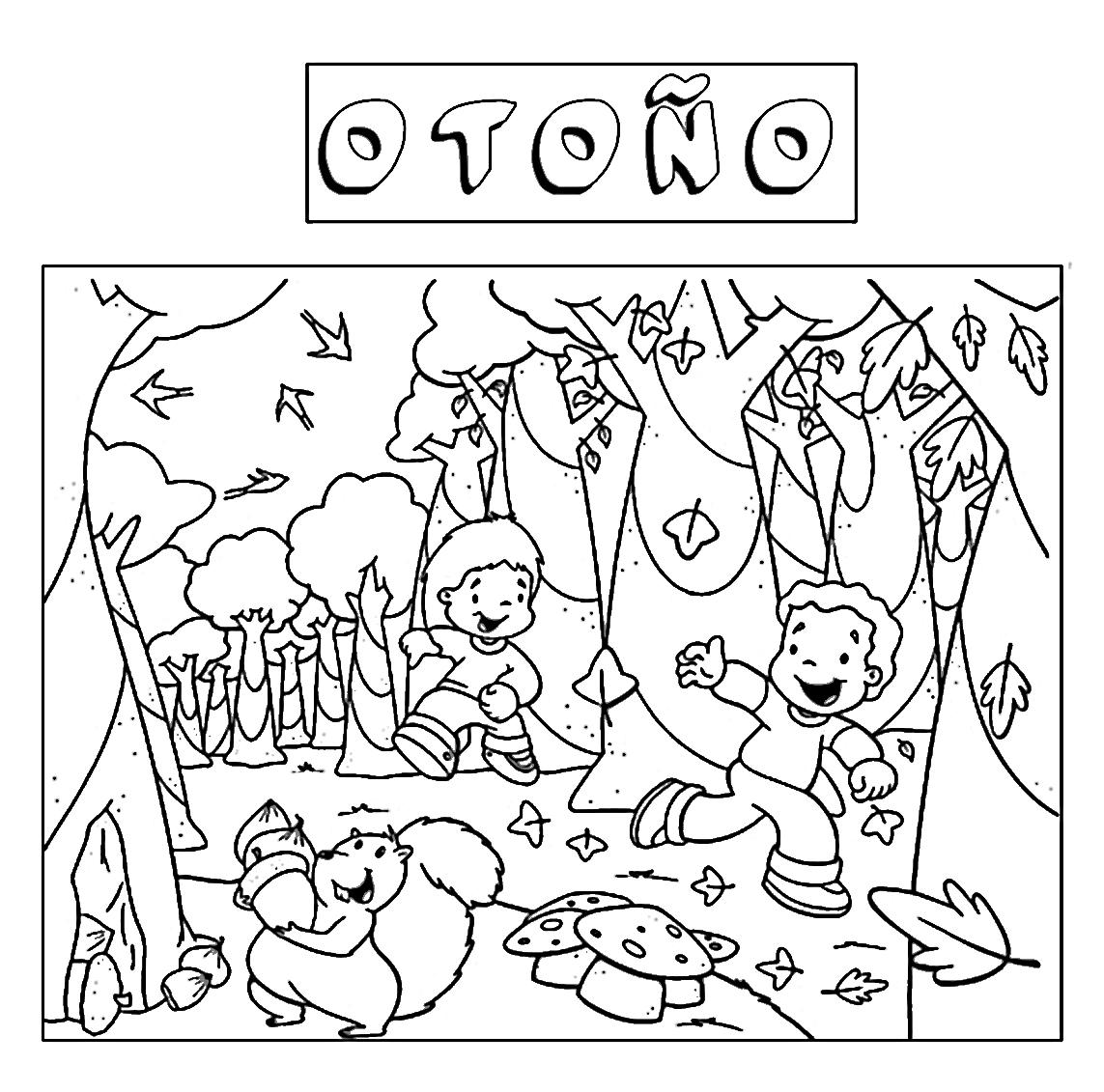 Dorable Libre Otoño Para Colorear Imágenes - Dibujos Para Colorear ...