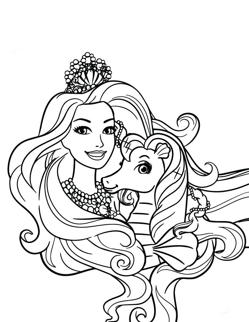 Dibujos de Barbie para colorear e imprimir