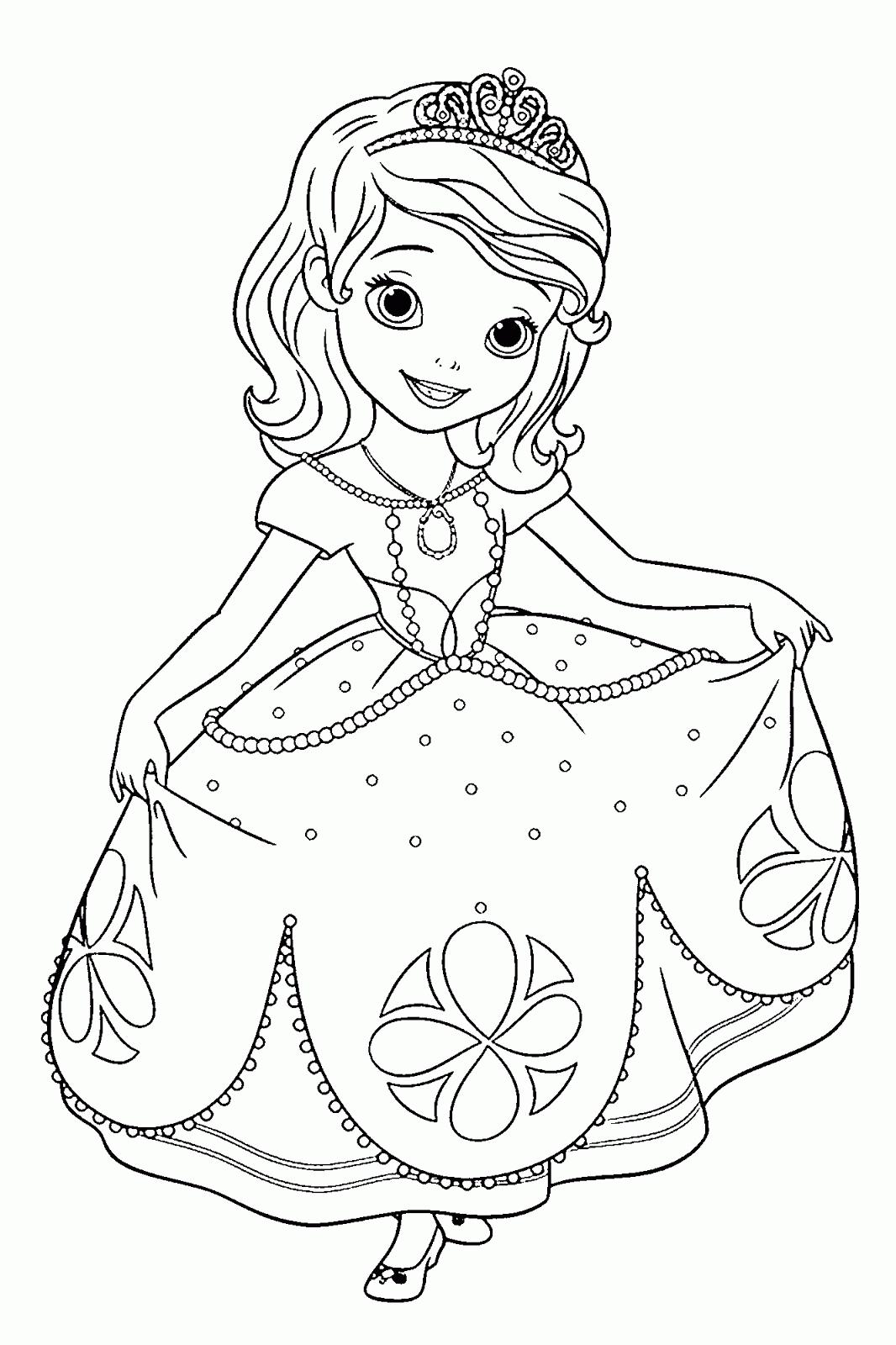 Dibujos de la princesa sofia para colorear dibujos disney for Dibujo de una piedra para colorear