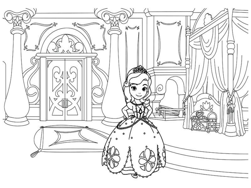 dibujos-princesita-sofia-para-colorear