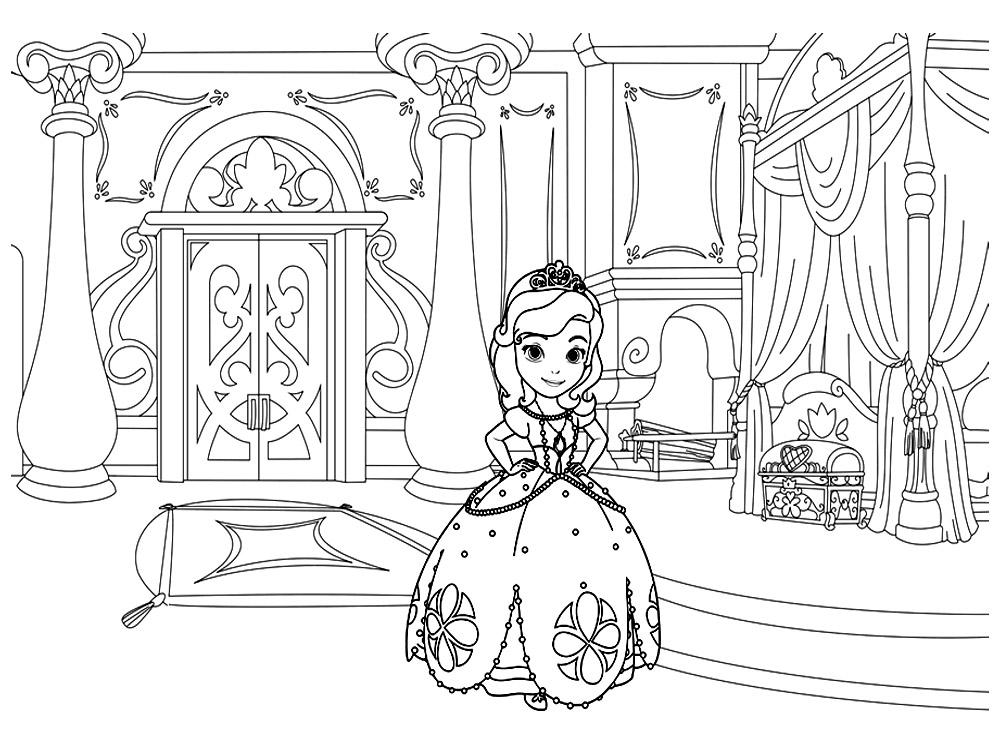 Princesas Para Colorear Pintar E Imprimir: Dibujos De La Princesa Sofia Para Colorear, Dibujos Disney