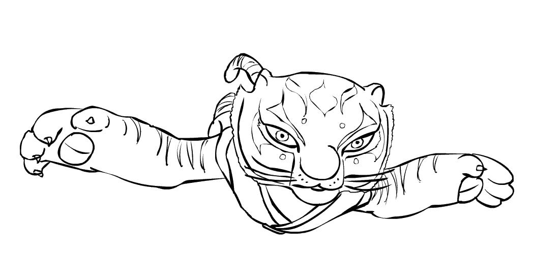 Dibujos de kung fu panda para colorear - Dessin kung fu panda ...