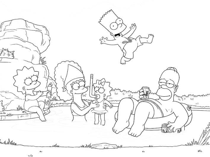 familia-simpson-dibujo-colorear