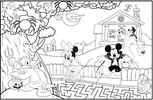 Dibujos de halloween disney para colorear e imprimir - Dibujos infantiles halloween ...