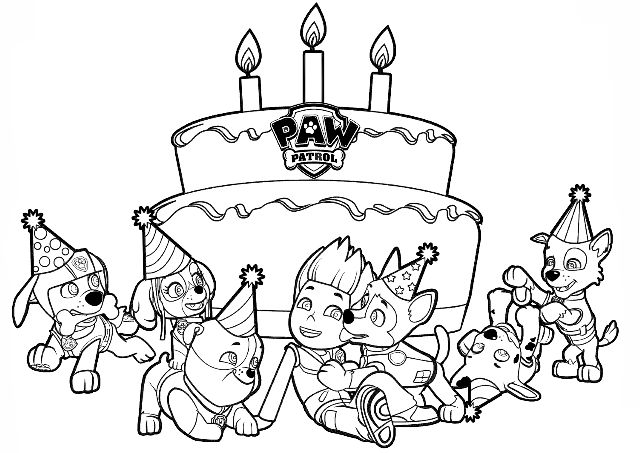 paw patrol birthday coloring pages - photo#9