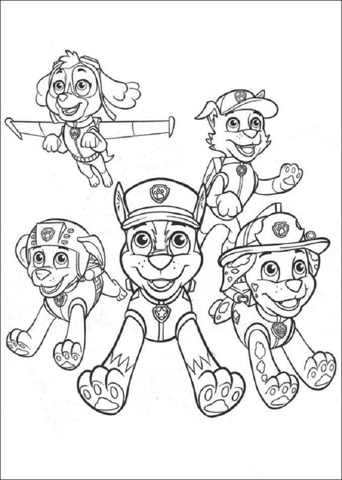 Dibujos de la patrulla canina para colorear paw patrol - Dibujos para dibujar en la pared ...