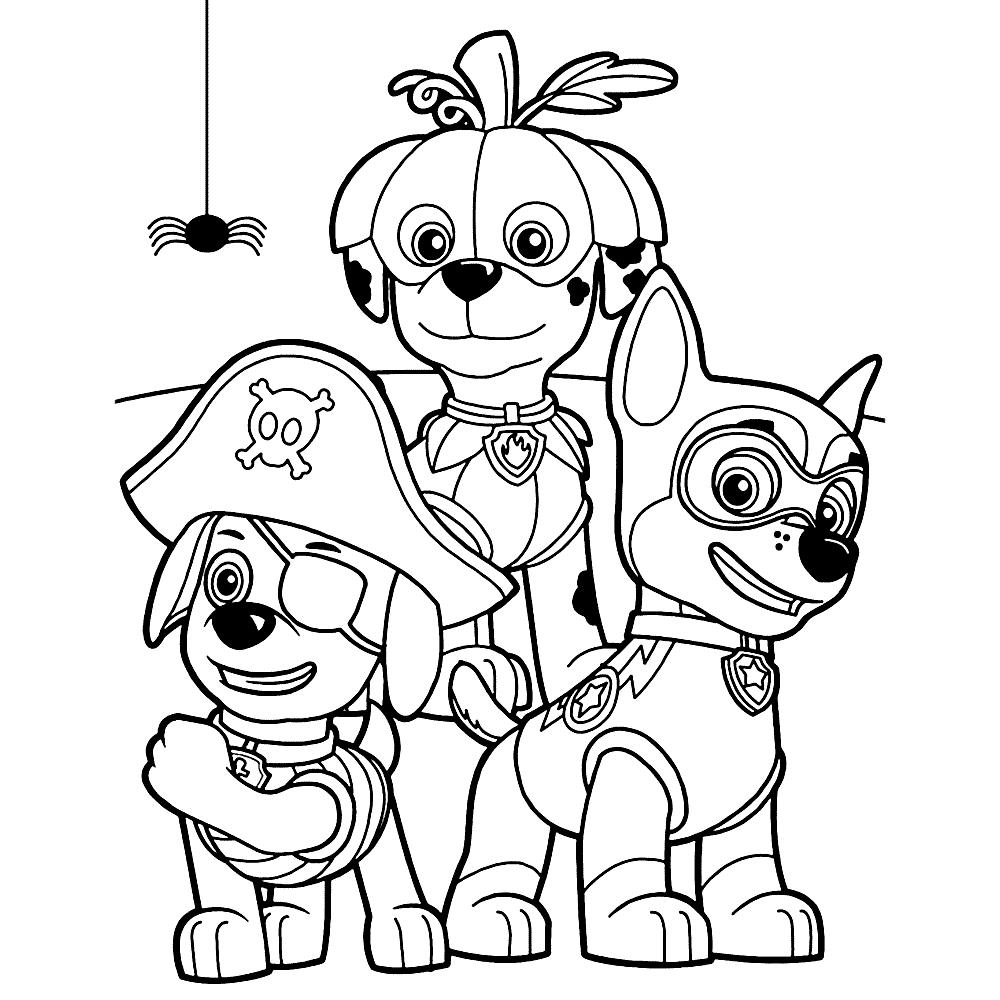 Dibujos de la patrulla canina para colorear paw patrol - Imagenes de la patrulla canina ...