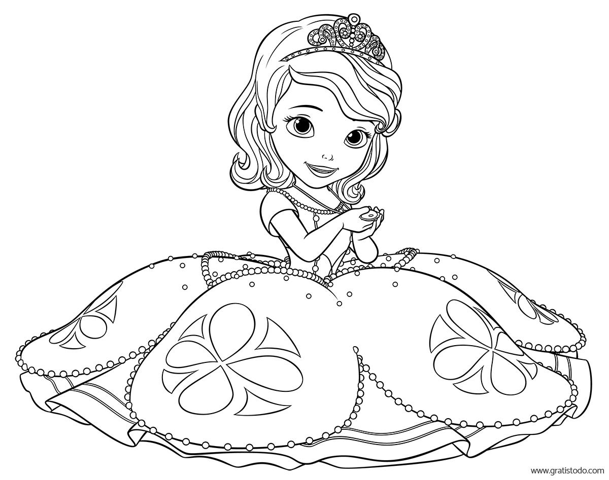 Princesas Disney Dibujos Para Colorear De Jasmín: Dibujos Para Pintar A La Princesa Sofia