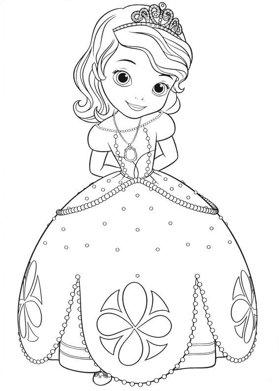 Dibujos De La Princesa Sofia Para Colorear Dibujos Disney Sofia The Coloring Page