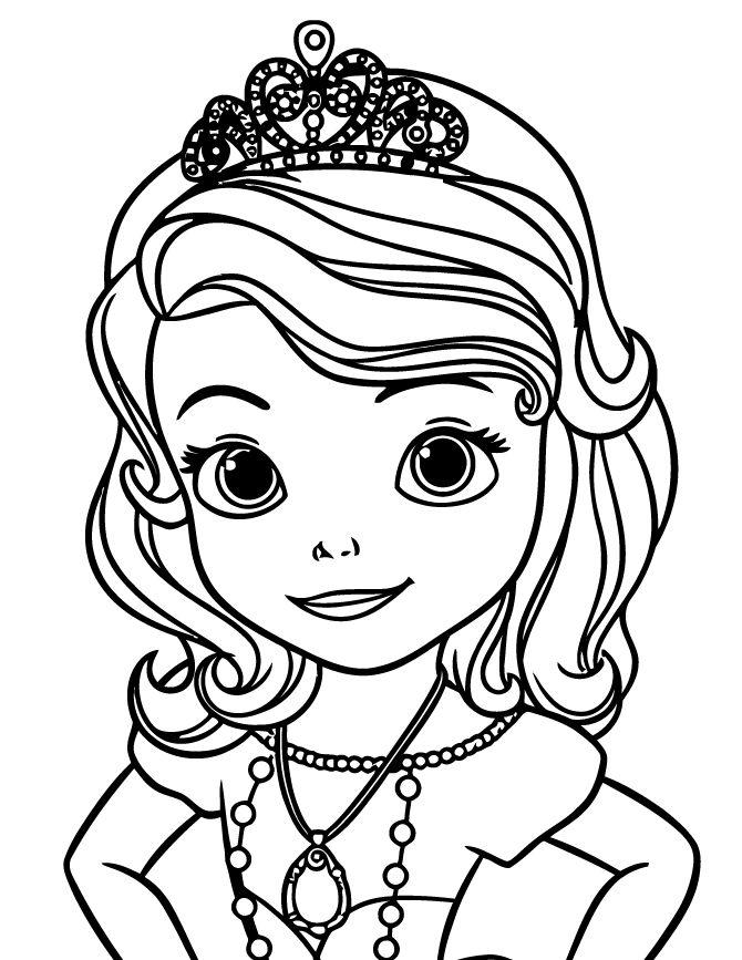 Dibujos de la princesa sofia para colorear dibujos disney - Dibujos para pintar en la pared ...