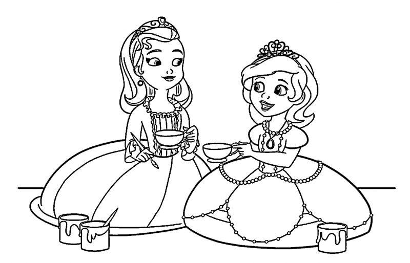 La Princesa Sofia Para Colorear