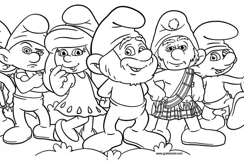 los-pitufos-dibujos-colorear