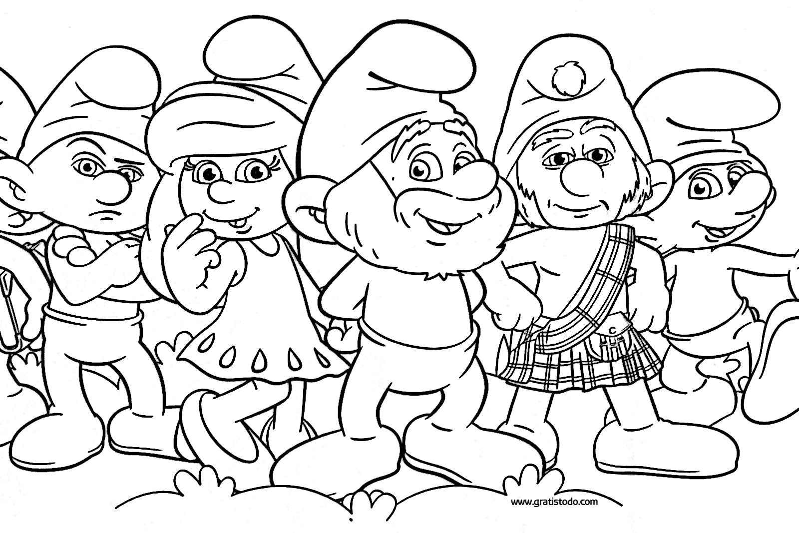Dibujos Para Ninos Para Colorear E Imprimir: Dibujos De Los Pitufos Para Colorear, Pitufos Imprimir Gratis
