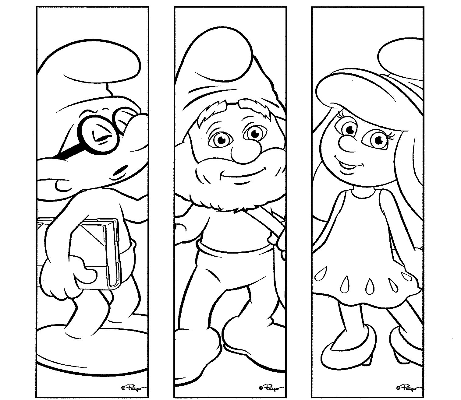 dibujos de los pitufos para colorear pitufos imprimir gratis On dibujos de imprimir