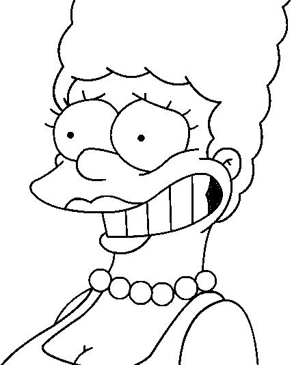 marge-simpson-dibujo