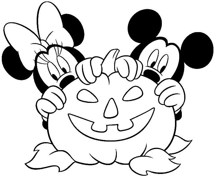 Dibujos de halloween disney para colorear e imprimir - Dessin tete de minnie ...