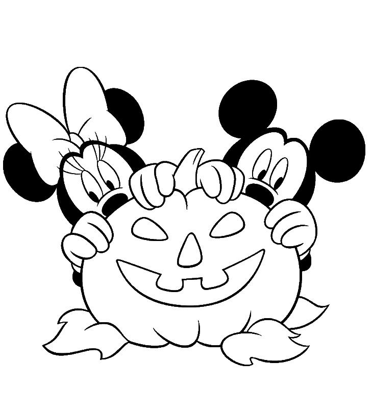 Dibujos Para Colorear Halloween Disney - Dibujos Para Dibujar