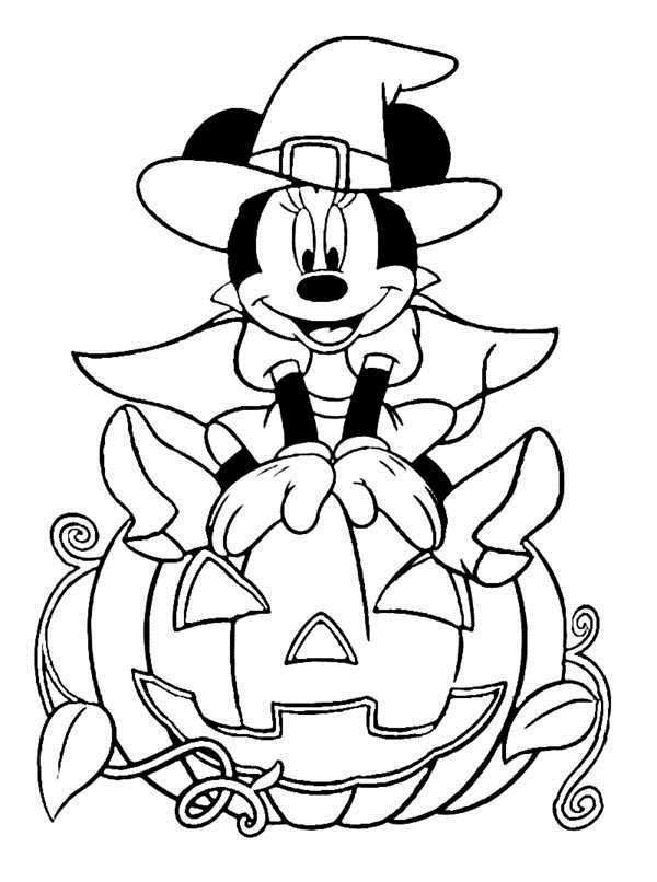 Dibujos de halloween disney para colorear e imprimir for Minnie mouse halloween coloring pages